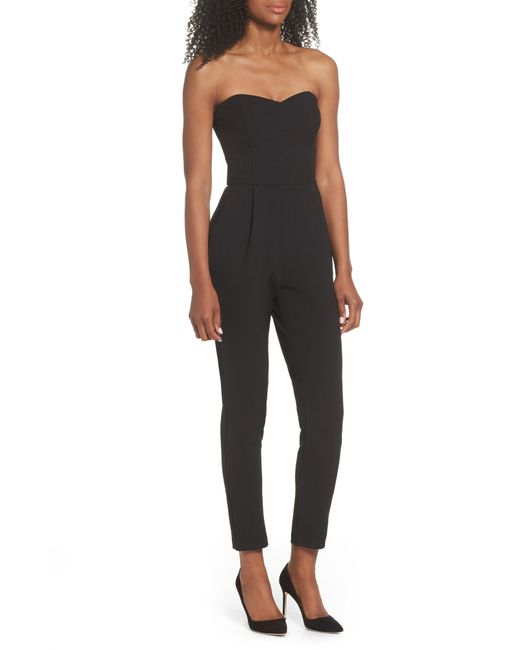 Adelyn Rae - Black Strapless Jumpsuit - Lyst