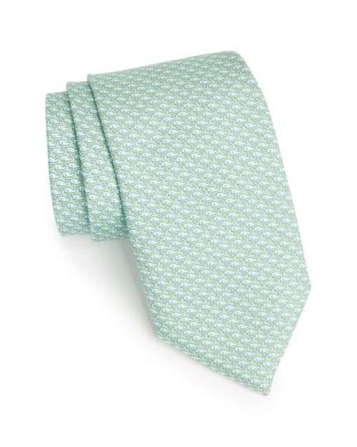 Vineyard Vines | Green 'whale' Silk Tie for Men | Lyst