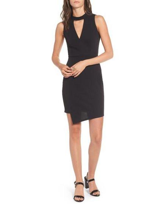 Soprano   Black Asymmetrical Body-con Dress   Lyst