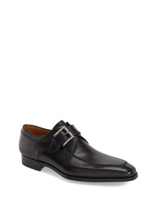 Magnanni Shoes | Black Mauricio Monk Strap Slip-on for Men | Lyst