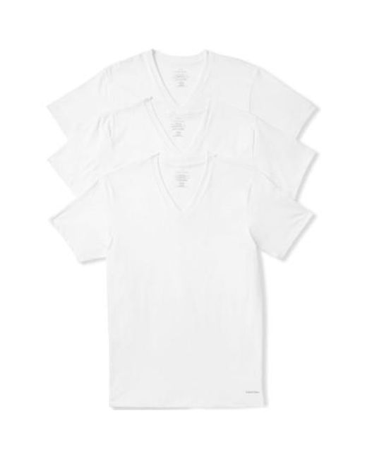Calvin Klein | 3-pack Classic Fit T-shirt, White for Men | Lyst