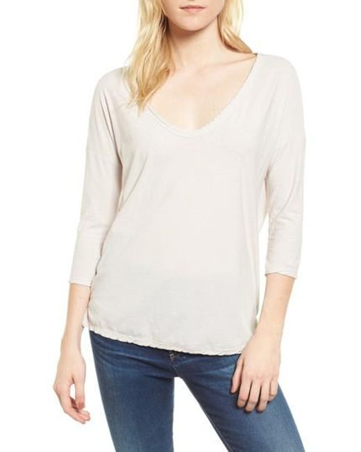 James Perse | White V-neck Tee | Lyst