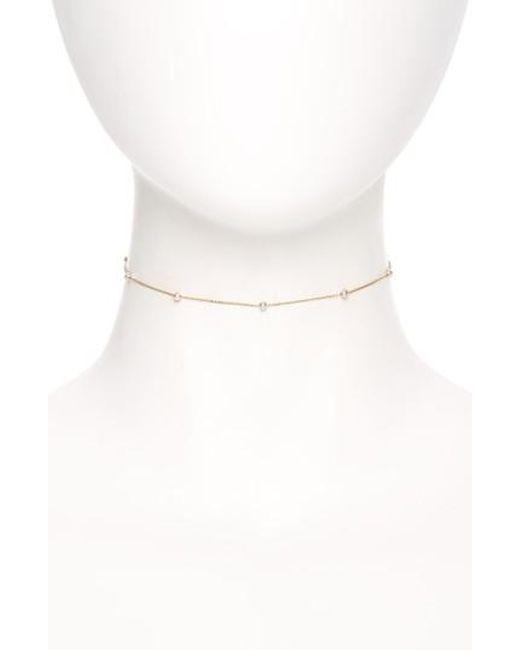 Mizuki | White Mikimoto Sea Of Beauty Pearl Chain Choker | Lyst
