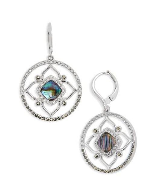 Judith Jack | Metallic Tropical Touches Flower Drop Earrings | Lyst