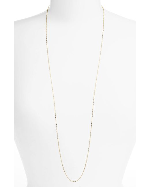 Bony Levy - Metallic Long Beaded Chain Necklace (nordstrom Exclusive) - Lyst