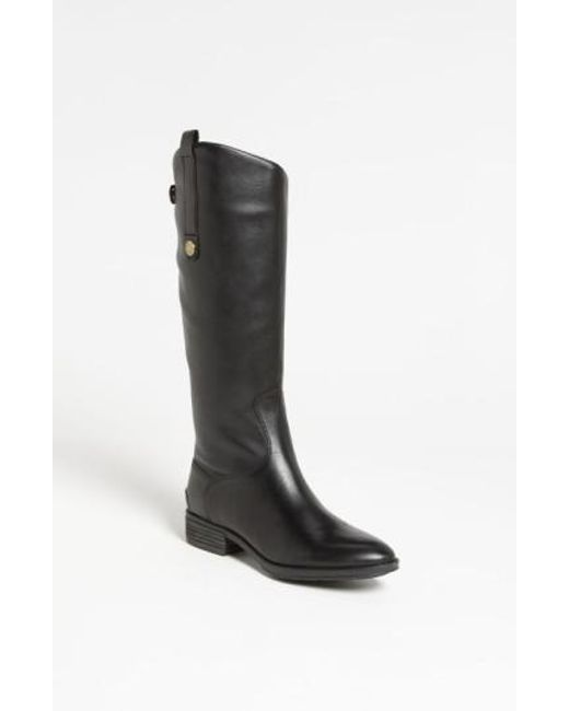 Sam Edelman | Black Penny Wide Calf Leather Boots | Lyst