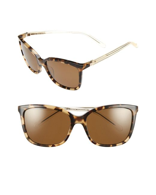 Kate Spade - Brown 'kasie' 55mm Polarized Sunglasses - - Lyst