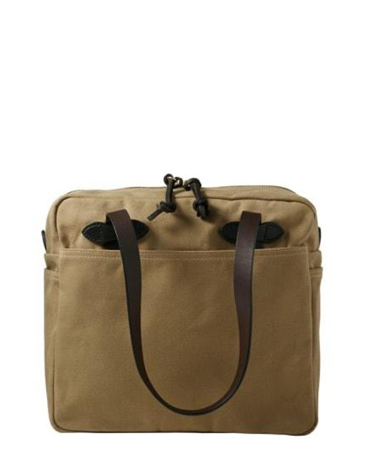 Filson Tote Bag With Zipper Otter Green in Green for Men - Save ... b0557d920d