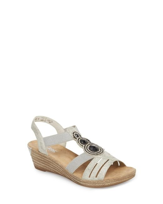 Rieker Antistress - Multicolor 'fanni' Wedge Sandal - Lyst