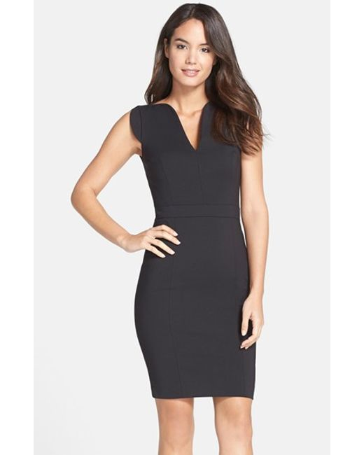 French Connection | Black 'lolo' Stretch Sheath Dress | Lyst