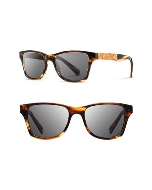 Shwood | Gray 'canby' 53mm Sunglasses | Lyst