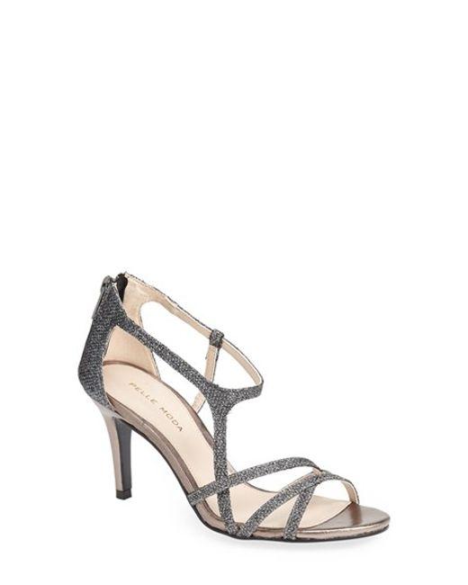 Pelle Moda | Metallic 'ruby' Strappy Sandal | Lyst