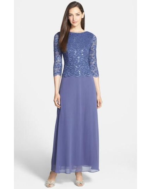 Alex Evenings | Blue Mock Two-piece Dress | Lyst