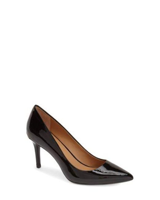 Calvin Klein | Black 'gayle' Pointy Toe Pump | Lyst
