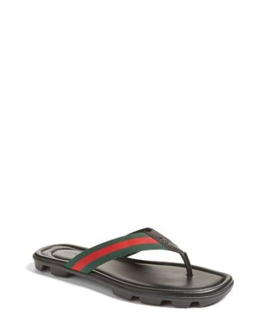 8593ff9e877c4d Gucci - Multicolor Titan Flip Flop for Men - Lyst ...