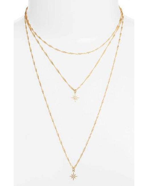 Five And Two - Metallic Yolanda Layered Necklace - Lyst