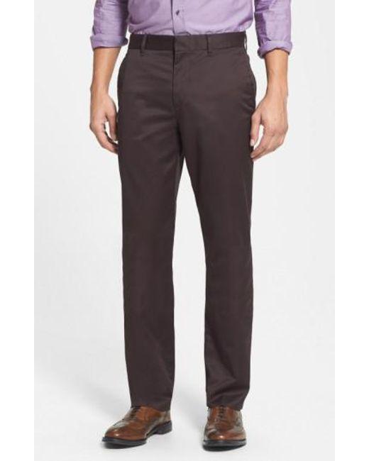 Bonobos | Brown 'weekday Warriors' Non-iron Straight Leg Cotton Pants for Men | Lyst