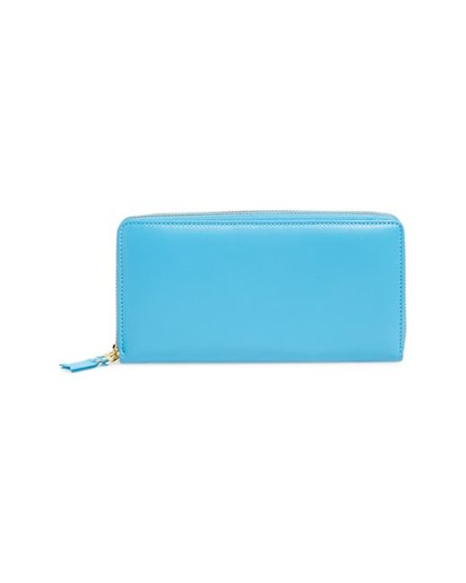 Comme des Garçons | Blue Leather Continental Long Wallet for Men | Lyst
