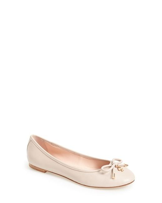 Kate Spade | Natural 'willa' Skimmer Flat | Lyst