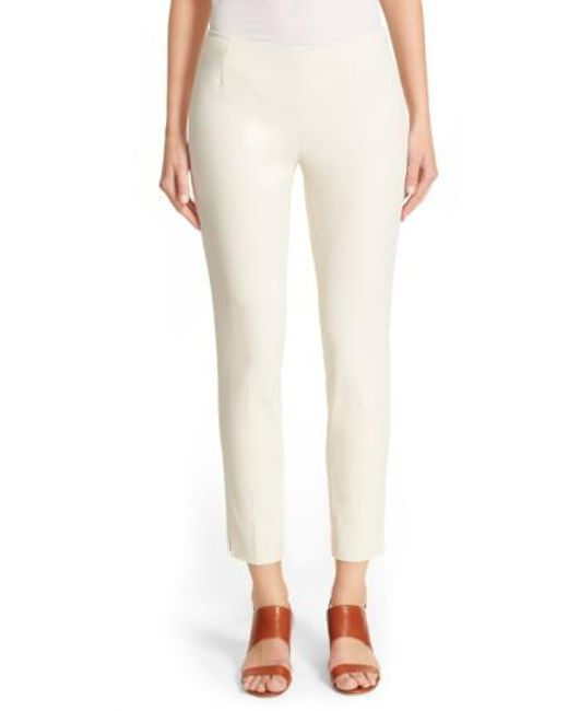 Lafayette 148 New York   White 'stanton' Slim Leg Ankle Pants   Lyst