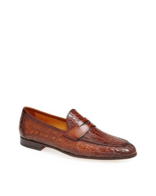 Magnanni Shoes | Brown 'carlos' Penny Loafer for Men | Lyst