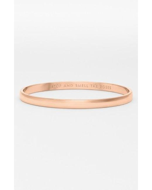 Kate Spade | Pink 'idiom - Stop And Smell The Roses' Bangle | Lyst