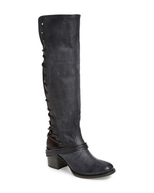 Freebird by Steven | Brown 'coal' Tall Leather Boot | Lyst