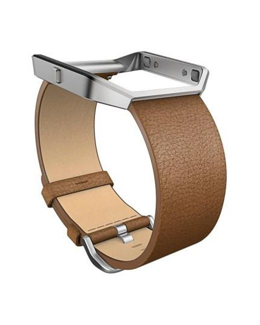 Fitbit | Natural Blaze Leather Smart Watch Band | Lyst