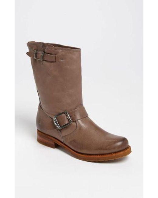Frye   Brown 'veronica Shortie' Slouchy Boot   Lyst