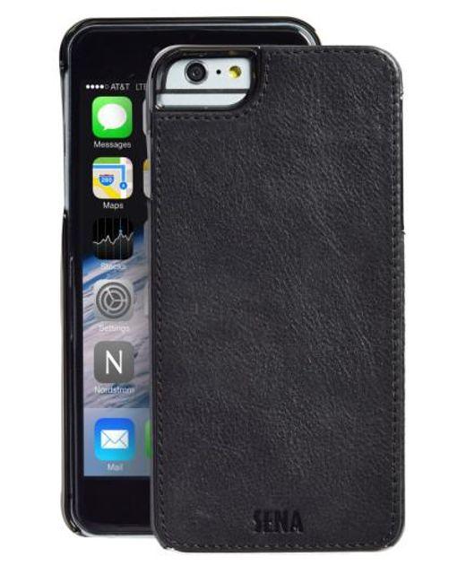 Sena | Black Heritage Lugano Leather Iphone 6 Plus/6s Plus Case for Men | Lyst