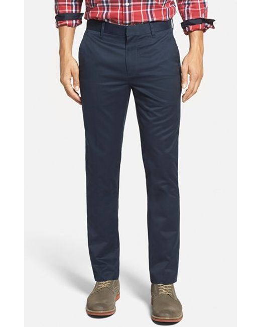 Bonobos | Blue 'weekday Warriors' Non-iron Tailored Cotton Chinos for Men | Lyst