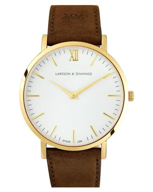 Larsson & Jennings | White 'lugano' Short Strap Leather Watch | Lyst