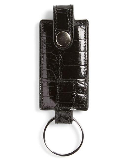 Boconi | Black Alligator Key Fob for Men | Lyst