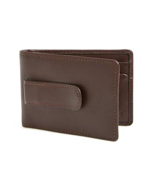 Boconi | Brown 'collins' Money Clip Wallet for Men | Lyst