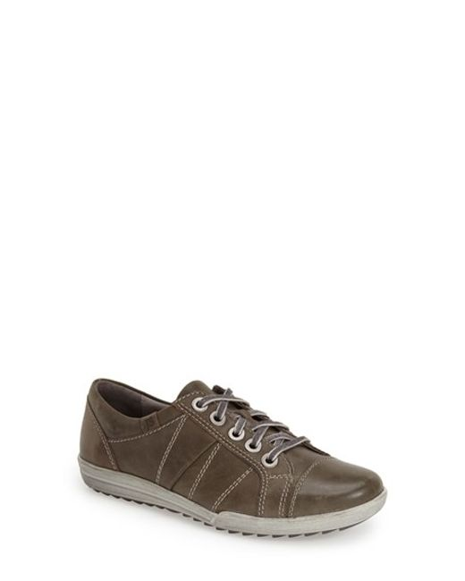 Josef Seibel | Gray 'dany 05' Leather Sneaker | Lyst