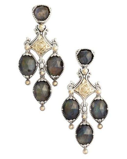 Konstantino - Metallic Cassiopeia Triple Drop Chandelier Earrings - Lyst