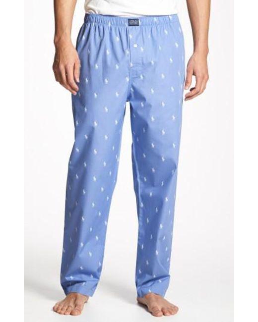Polo Ralph Lauren | Blue Cotton Lounge Pants for Men | Lyst