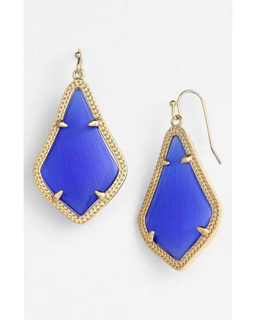 Kendra Scott | Blue Alex Drop Earrings | Lyst
