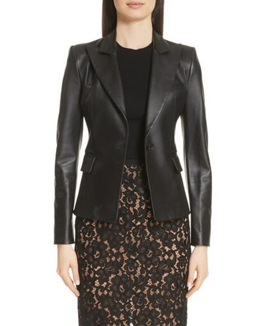 Michael Kors - Black Plonge Leather Jacket - Lyst
