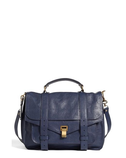 Proenza Schouler | Blue 'large Ps1' Satchel | Lyst