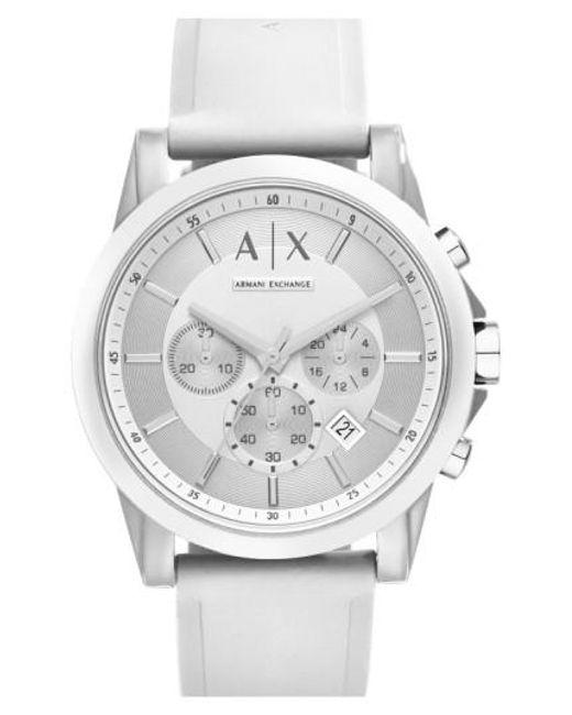 Armani Exchange | White Chronograph Silicone Strap Watch | Lyst