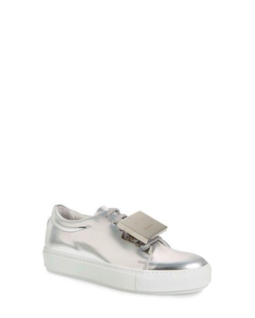 Acne   Metallic Adriana Patent Leather Sneakers   Lyst