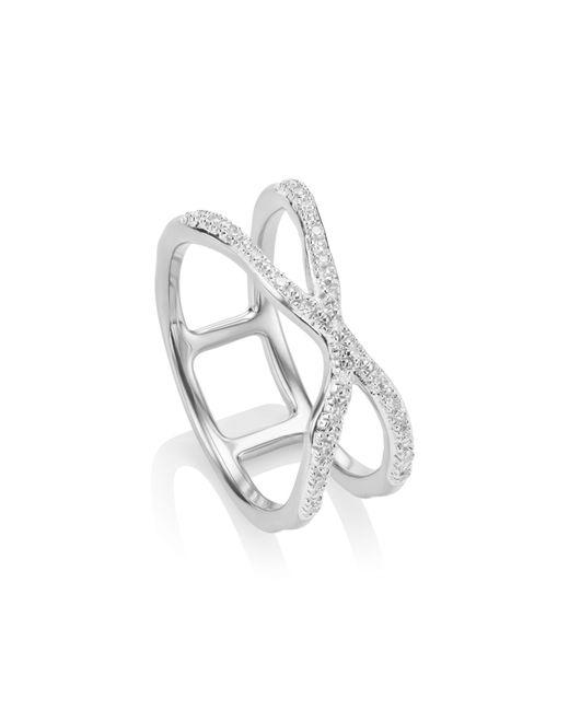 Monica Vinader - Metallic Riva Diamond Ring - Lyst