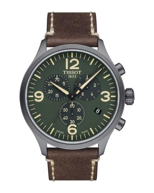 Tissot - Green Chrono Xl Leather Strap Chronograph Watch for Men - Lyst