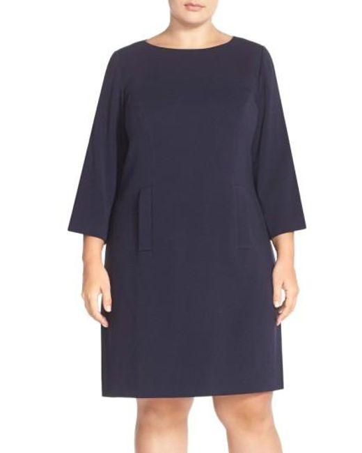 Eliza J | Black Pocket Detail Shift Dress | Lyst