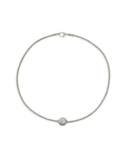 Lagos | Multicolor Luna Pearl Collar Necklace | Lyst
