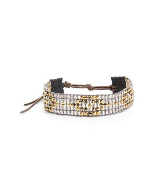 Chan Luu | Multicolor Pyrite Mix Adjustable Bracelet | Lyst
