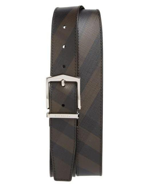 Burberry - Black 'joel' Check Pattern Belt for Men - Lyst