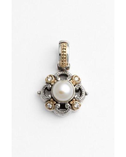 Konstantino | White 'hermione' Pearl & Diamond Pendant | Lyst