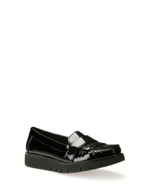 Geox | Black 'blenda' Kiltie Loafer | Lyst